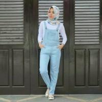 Light Pocket Overall Jumpsuit Setelan Jeans Baju Celana Kodok wearpack