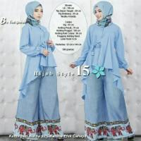 YUSTINE HIJAB STYLE 15 TURKISH set hijab gamis syari bergo