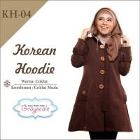 Jaket Wanita Korea Musim Dingin Hoodie Muslimah Berhijab 04