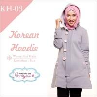 Jaket Wanita Korea Musim Dingin Hoodie Muslimah Berhijab 03
