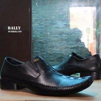 Diskon Sepatu Bally Pantofel Kulit Asli Hitam Kerja Formal Pria