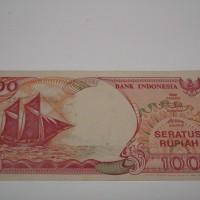 1 Lembar Uang Kuno 100 Rupiah Perahu Pinisi. 1992