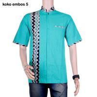 Baju Koko Batik Embos Warna 5