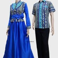 Couple batik sarimbit gamis pesta baju pasangan seragam SRG 512