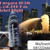 PAKET TOUR SINGAPORE MALAYSIA 4H3M INCLUDE TIKET PESAWAT