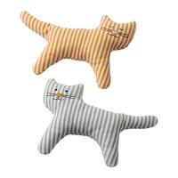 IKEA LEKA Mainan kerincingan bayi set isi 2, kucing