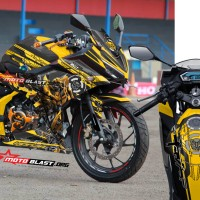 Decal stiker All New CBR150R Black Bumble bee