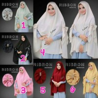 Jual Jilbab Khimar Cardi Ribbon Swarovski By Fadeya Hijab