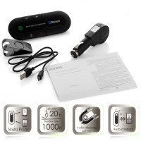 BT-13 Bluetooth Car Kit Handfree Multipoint Speakerphone Wireless