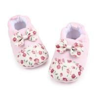 Sepatu Prewalker Cute Flower Ribbon - Sepatu bayi - Sepatu anak import