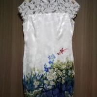 Jual Dress Solemio Satin Crochete Murah