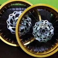 velg rossi 2.5in 3in ring 17 hole 36 tromol klx variasi lengkap disk