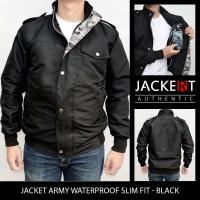Jual Jaket Army Parasut - Slim Fit & Waterproof - Black Murah