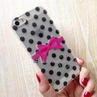 soft case iPhone 5 iPhone 5S (POLKADOT) Glitter 3D casing cover