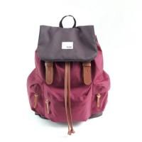 Tas Ransel Backpack Sekolah Kuliah Laptop Wanita - Tuskbag Taro Maroon
