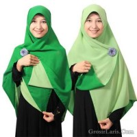 Jilbab bolak balik segi empat 2 in 1 murah