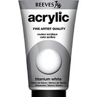 Reeves Acrylic Fine Artist Titanium White 75 Ml