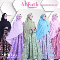 Setelan Busana Muslimah Gamis Balotely+Khimar AL FATH Syari by OriNawa