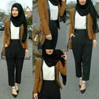 Asmirandah blazer hijab set