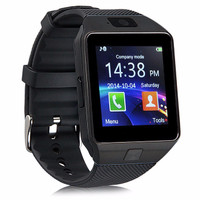 UNiQue Smartwatch DZ09 For IOS And Android - Srap Rubber - Hitam