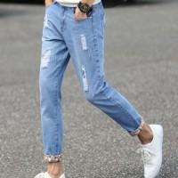 Celana Jeans Pria Straight / Korean Style Light Blue