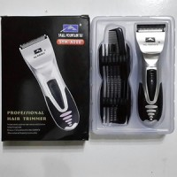 PROMO alat cukur rambut Profesional hair clipper trimmer battery 1 set