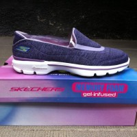 Skechers go walk 3 women soft fabric (sepatu skecher kets pria wanita)