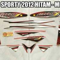 harga Striping Mio J Sporty 2012 Hitam - Merah Tokopedia.com