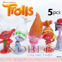 Trolls Figure 5pcs DreamWorks Animation-pajangan-cute-animasi-VB169