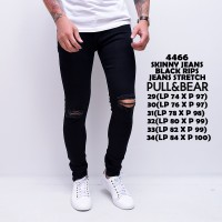 4466 PULL & BEAR Skinny Jeans Black Rips