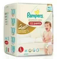 harga Pampers Premium Care Pants L 62 Tokopedia.com