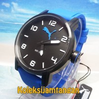 JAM TANGAN PRIA PUMA PU104141003 ALTERNATIVE ROUND BLACK BLUE ORIGINAL