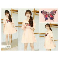 F865 BUTTERFLY DRESS (Baju Casual Fashion Wanita Kupu-Kupu Sabrina)