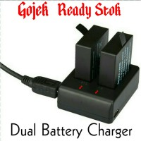 Dual Battery Charger for Eken, Kogan,Onix,SJ Cam,SJ,4000,5000,6000 M10