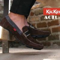 Sepatu Kickers Casual Slop Actual Suede Brown