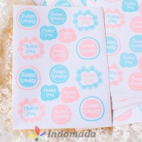 Sticker Packing Baking Kue Cookie Tempelan Perekat Thank You Sweet Luv