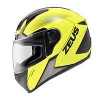 Helm Zeus ZS811 AL6 Fluo Yellow/Black - Full Face FREE Dark Visor Z811