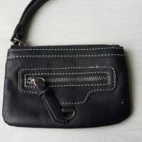 Nine West Mini Dompet Wallet Pouch Authentic Original Black Leather