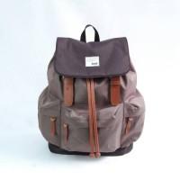 Tas Ransel Sekolah/Laptop/Backpack Wanita Trendy - Tuskbag Taro Brown