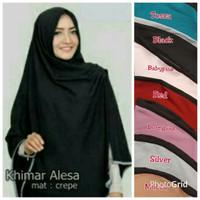 Terbaru Khimar Alesa Crepe / Khimar Alesa Crape Hijab