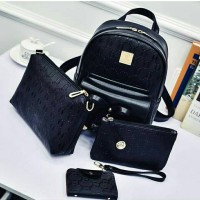 Jual Tas Import Cewek Backpack Set 4 in 1 Murah