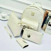 Tas Import Cewek Backpack Set 4 in 1