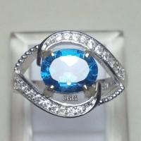 harga Natural Batu Permata London Blue Topaz, Mewah, Mempesona, Garansi Asli Tokopedia.com