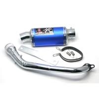 KNALPOT I-ONE TRIOVAL BLUE-CROM N-MAX
