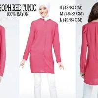 Baju Muslim Wanita - SOPHIE MARTIN RED TUNIC