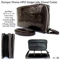 DOMPET HPO 3 HP CHNEL GLOSY DARKCOKLAT