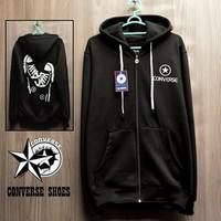 Jaket Converse Shoes hitam hoodie pria wanita murah sweater adidas