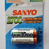 Baterai Rechargeable / Charger AA SANYO 2700Mah Ni-Mh HYDRID Battery