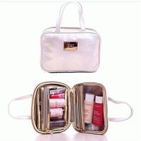 SK-II Soft White Gold Cosmetic Organizer / Pouch / Tas Makeup SKII SK2