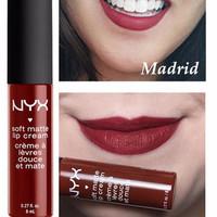 Lipstik Nyx Nyx Matte NYX SOFT MATTE LIP CREAM MADRID Termurah